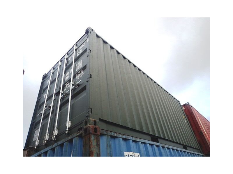 SHIPPING CONTAINERS 20ft ISO green MTBU2110589 click to zoom image