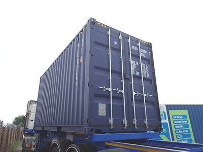 SHIPPING CONTAINERS 20ft high cube, blue MTBU0205941