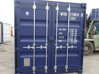 SHIPPING CONTAINERS 20ft ISO blue MTBU2106249