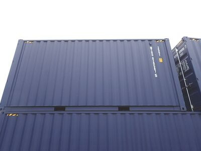 SHIPPING CONTAINERS 20ft ISO high cube, blue MTBU0205875 click to zoom image