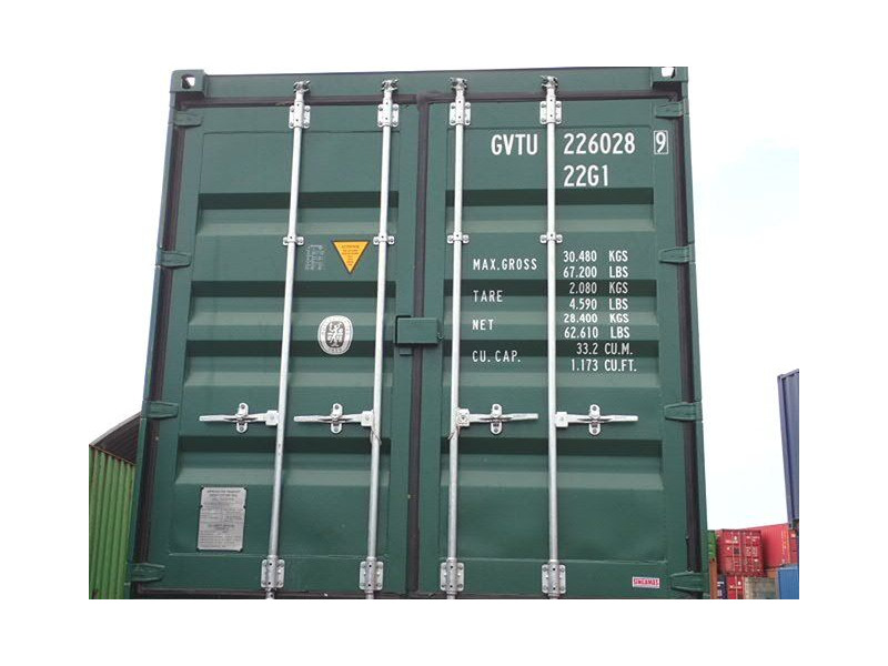 SHIPPING CONTAINERS 20ft ISO green GVTU2260289 click to zoom image