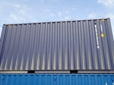SHIPPING CONTAINERS 20ft high cube, blue MTBU0205860 click to zoom image