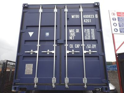 SHIPPING CONTAINERS 40ft ISO blue MTBU4008236