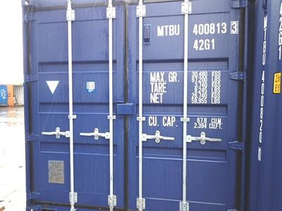 SHIPPING CONTAINERS 40ft ISO blue MTBU4008133
