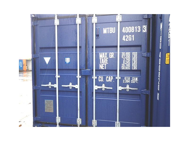 SHIPPING CONTAINERS 40ft ISO blue MTBU4008133 click to zoom image