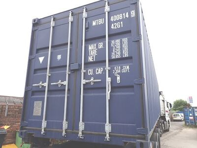 SHIPPING CONTAINERS 40ft ISO blue MTBU4008149