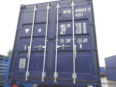 SHIPPING CONTAINERS 40ft ISO blue MTBU4008241