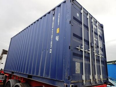 SHIPPING CONTAINERS 20ft ISO green MTBU2101632 click to zoom image