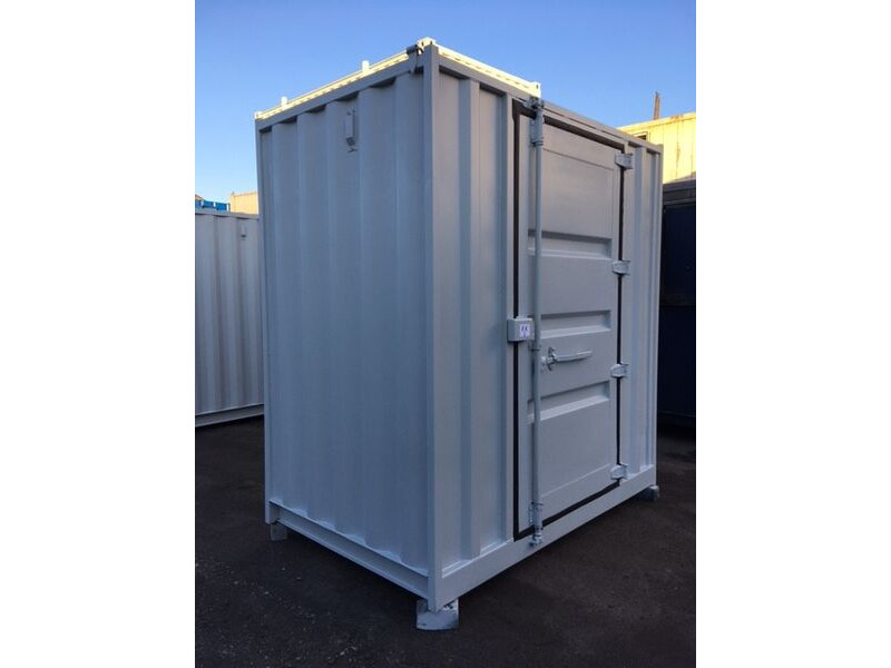 SHIPPING CONTAINERS 8ft x 5ft with personnel door  63984 click to zoom image