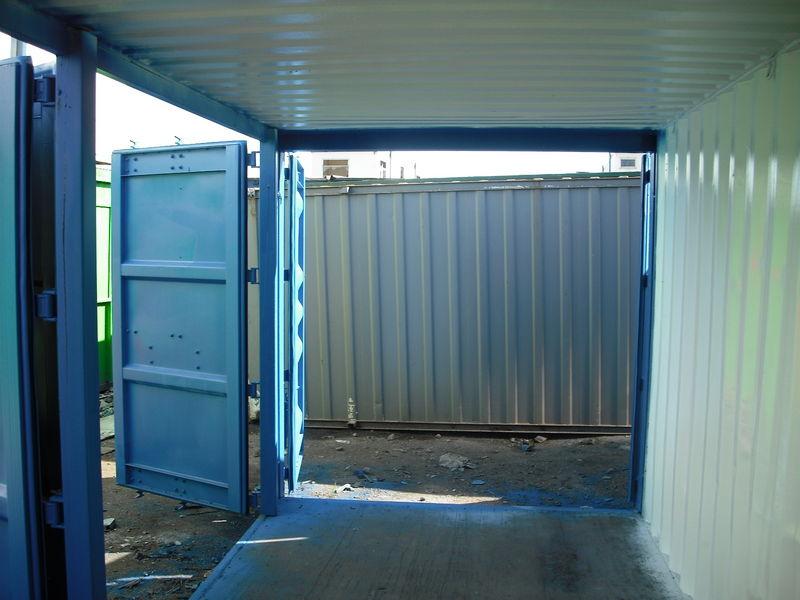 Shipping containers container side doors for Door to door transport