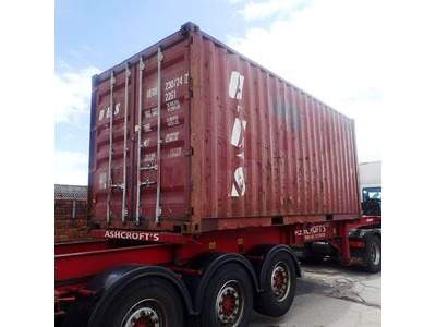 SHIPPING CONTAINERS 20ft container with tyre racking click to zoom image