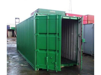 SHIPPING CONTAINERS 25ft container with tyre racking 45976 click to zoom image