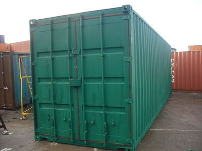 SHIPPING CONTAINERS 30ft container with tyre racking click to zoom image