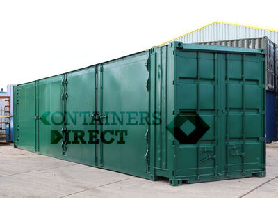 SHIPPING CONTAINERS 40ft with 2 sets of doors in side