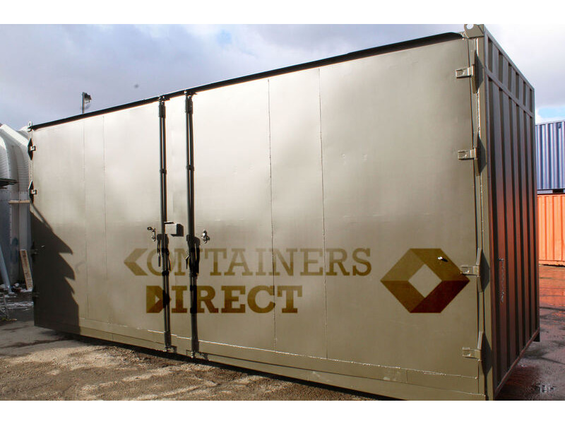 SHIPPING CONTAINERS 21ft with 20ft wide side door click to zoom image