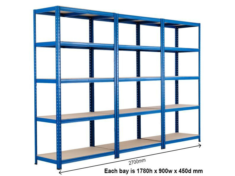SHIPPING CONTAINERS Connectable container shelving bays - pre fitted click to zoom image