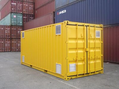 SHIPPING CONTAINERS 400mm x 400mm louvre vent