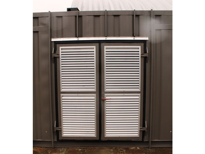 SHIPPING CONTAINERS 800mm Louvre vent click to zoom image