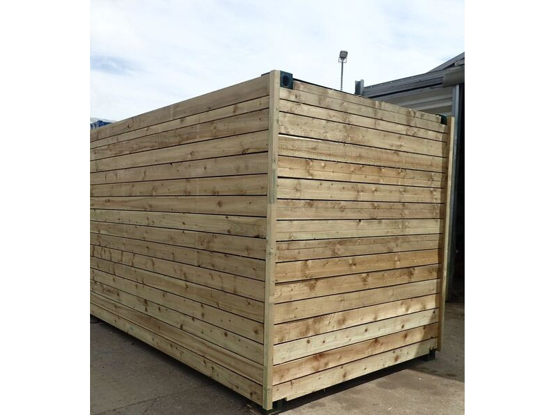 SHIPPING CONTAINERS 10ft once used cladded container - Classic Rustic CLO10 click to zoom image