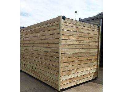 SHIPPING CONTAINERS 10ft used cladded container - Classic Rustic CLU10 click to zoom image