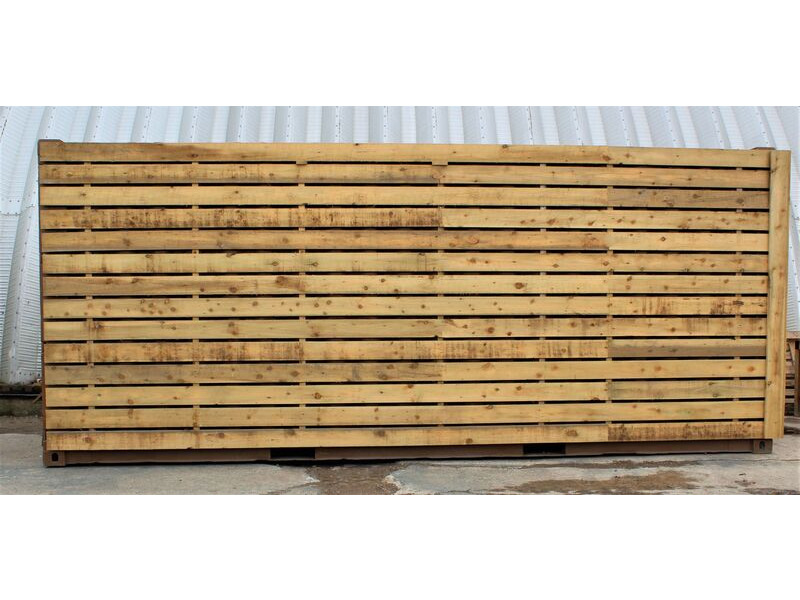 SHIPPING CONTAINERS 15ft once used cladded container - Classic Rustic CLO15 click to zoom image