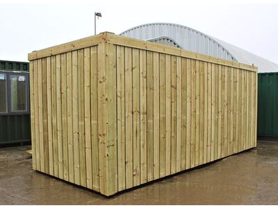 SHIPPING CONTAINERS 15ft used cladded container - Clean Cut CLU15