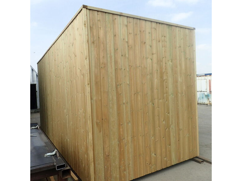 SHIPPING CONTAINERS 15ft used cladded container - Seamless Shiplap CLU15 click to zoom image