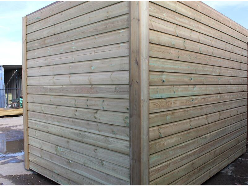 SHIPPING CONTAINERS 10ft used cladded container - Seamless Shiplap CLU10 click to zoom image