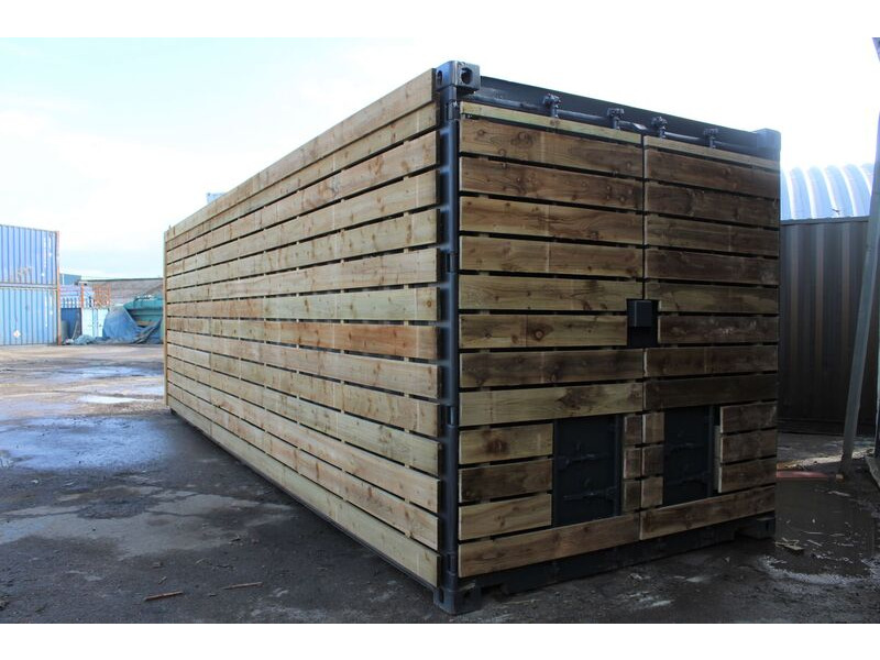 SHIPPING CONTAINERS 20ft once used cladded container - Classic Rustic CLO20 click to zoom image