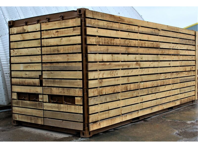 SHIPPING CONTAINERS 20ft used cladded container - Classic Rustic CLU20 click to zoom image