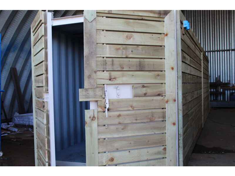 SHIPPING CONTAINERS 25ft used cladded container - Classic Rustic CLU25 click to zoom image