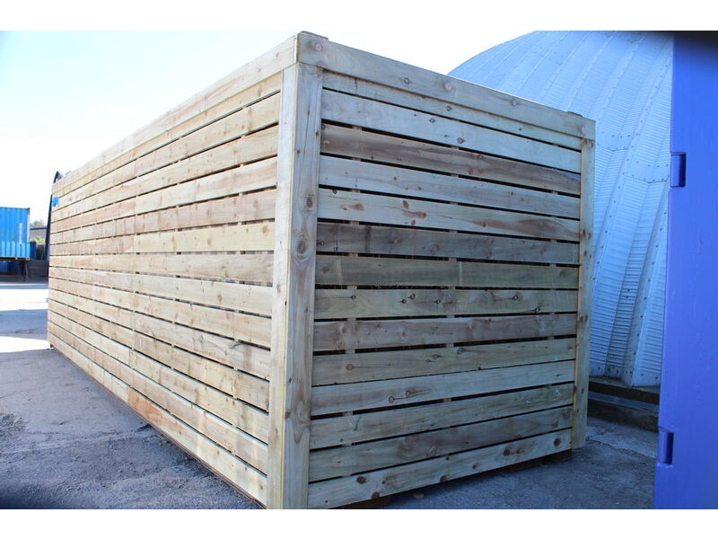 SHIPPING CONTAINERS 30ft once used cladded container - Classic Rustic CLO30 click to zoom image