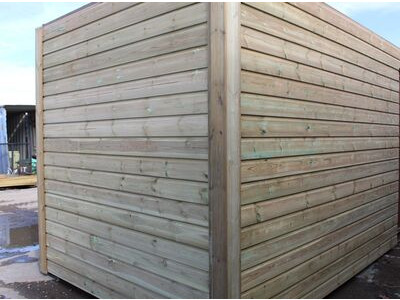 SHIPPING CONTAINERS 20ft once used cladded container - Seamless Shiplap CLO20