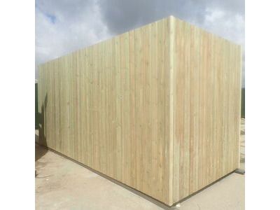 SHIPPING CONTAINERS 25ft used cladded container - Seamless Shiplap CLU25