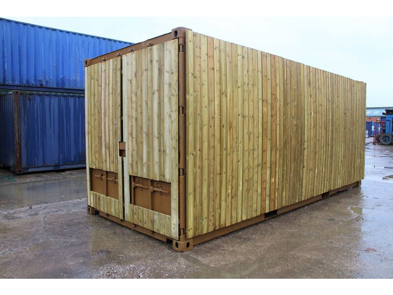 SHIPPING CONTAINERS 25ft once used cladded container - Seamless Shiplap CLO25 click to zoom image