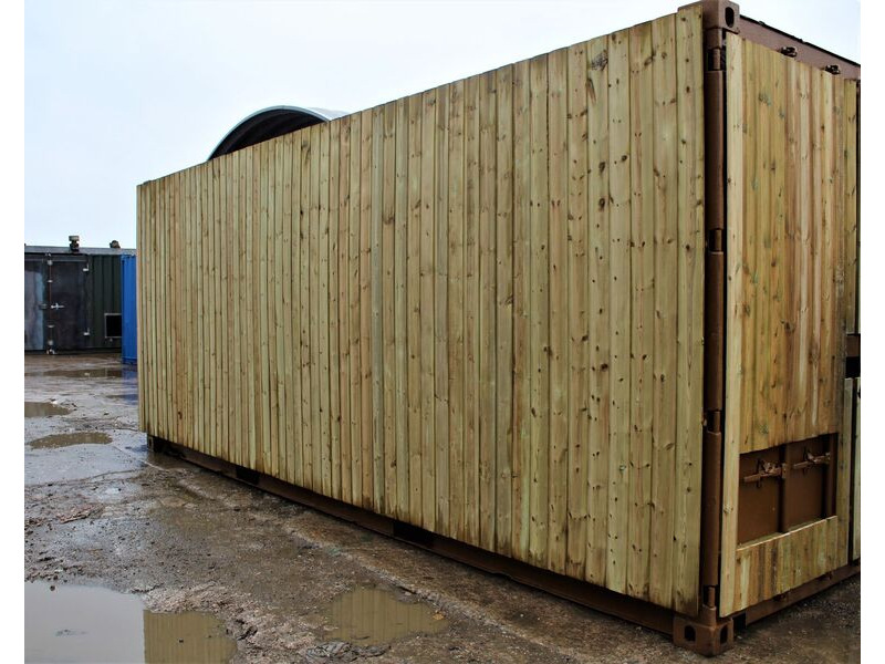 SHIPPING CONTAINERS 30ft once used cladded container - Seamless Shiplap CLO30 click to zoom image