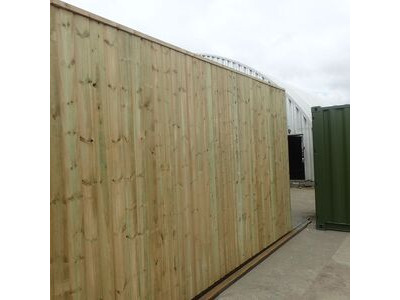 SHIPPING CONTAINERS 40ft once used cladded container - Seamless Shiplap CLO40