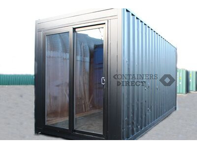 SHIPPING CONTAINERS 20ft high cube with patio doors click to zoom image