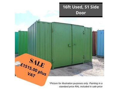 SHIPPING CONTAINERS 16ft with S1 side doors HL29