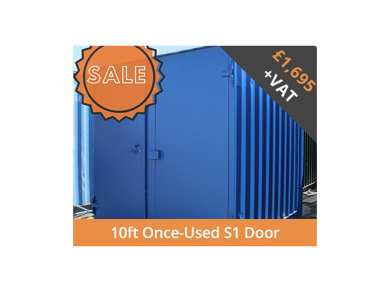SHIPPING CONTAINERS 10ft S1 doors HL10S104 click to zoom image