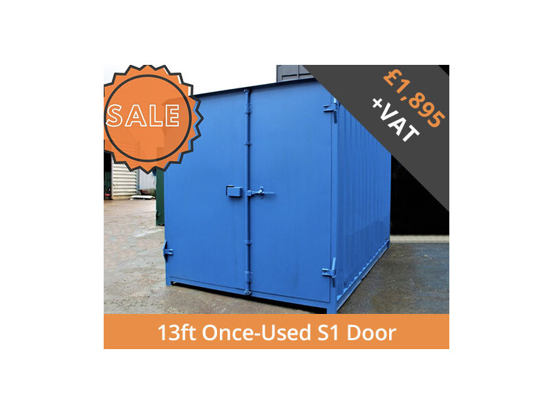 SHIPPING CONTAINERS 13ft S1 doors HL13S101 click to zoom image