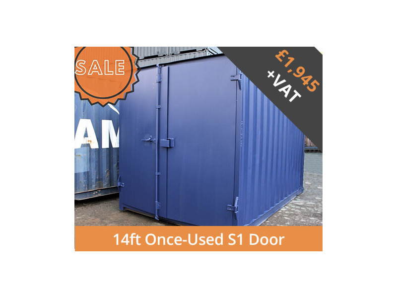 SHIPPING CONTAINERS 14ft S1 doors HL14S101 click to zoom image