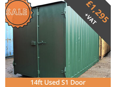 SHIPPING CONTAINERS 14ft S1 doors HL14S102