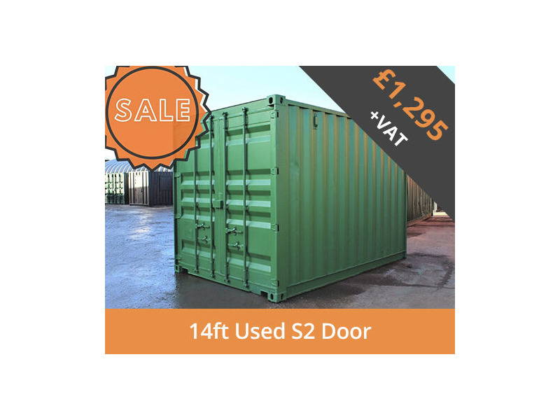 SHIPPING CONTAINERS 14ft S2 doors HL14S201 click to zoom image