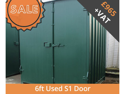 SHIPPING CONTAINERS 6ft S1 doors HL6S107