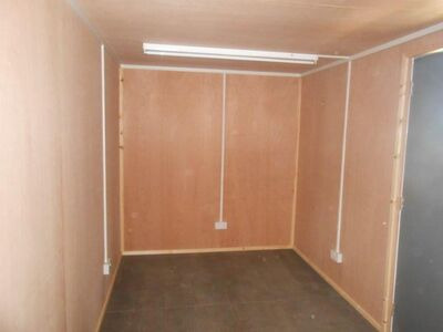SHIPPING CONTAINERS 20ft with personnel door, lined and electrics SC63
