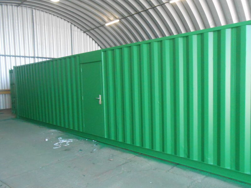 SHIPPING CONTAINERS 40ft with personnel door SC66 click to zoom image