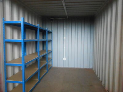 SHIPPING CONTAINERS 10ft with shelving and electrics click to zoom image