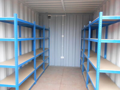 SHIPPING CONTAINERS 10ft with shelving and electrics