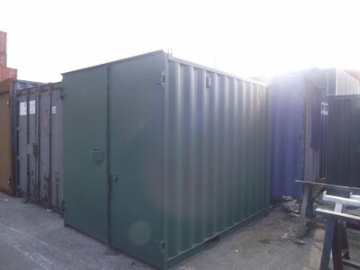 SHIPPING CONTAINERS 10ft S1 doors 15414 click to zoom image